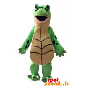 Grüne Schildkröte Maskottchen und Riesen beige - MASFR028529 - Maskottchen-Schildkröte