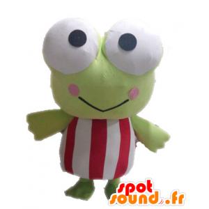 Mascotte rana verde, gigante, divertente - MASFR028537 - Rana mascotte