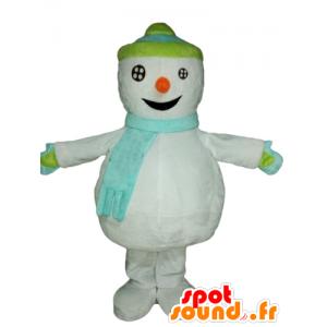 Mascotte de bonhomme de neige géant. Mascotte d'hiver - MASFR028540 - Mascottes Noël