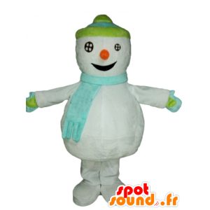 Pupazzo mascotte neve gigante. mascotte Inverno - MASFR028540 - Mascotte di Natale