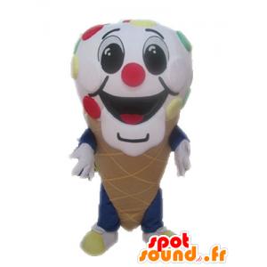 Mascotte de cornet de glace géant. Mascotte de glace - MASFR028543 - Mascottes Fast-Food