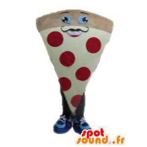 Mascotte della pizza gigante. fetta di pizza Mascotte - MASFR028550 - Mascotte Pizza