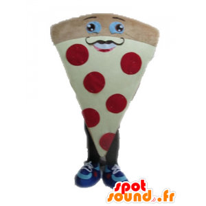 Mascot riesigen Pizza. Mascot Stück Pizza - MASFR028550 - Maskottchen-Pizza