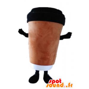 Kaffeetasse Maskottchen. Mascot heißes Getränk - MASFR028560 - Maskottchen von Objekten