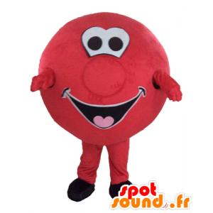 Mascot riesige rote Kugel. Runde Maskottchen - MASFR028561 - Maskottchen von Objekten