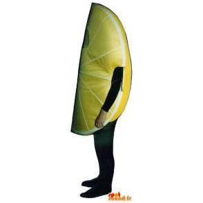 Mascotte de tranche de citron jaune, géante - MASFR007242 - Mascotte de fruits