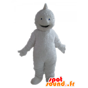 White Yeti mascot. Grizzly mascot - MASFR028565 - Monsters mascots