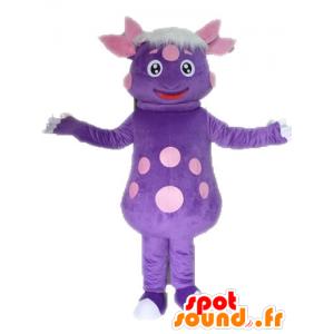 Peas dinosaur mascot. purple creature mascot - MASFR028566 - Mascots dinosaur