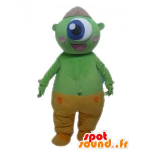 Green alien mascot. Green Cyclops Mascot - MASFR028567 - Monsters mascots