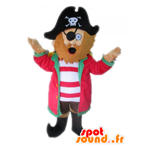 Piratmaskot med hat. Kaptajnens maskot - Spotsound maskot