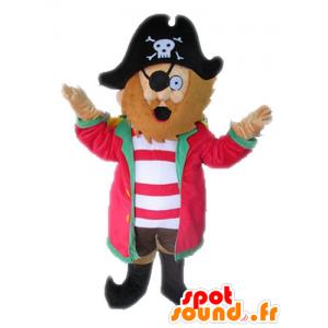 Piratmaskot med hatt. Kaptenmaskot - Spotsound maskot