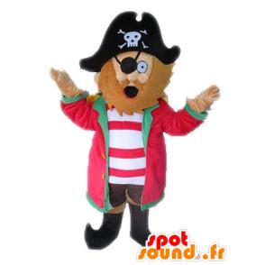 Pirate Mascot met een hoed. Mascot Captain - MASFR028571 - mascottes Pirates
