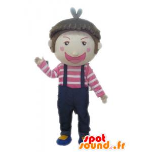 オーバーオールのマスコット少年。子マスコット-MASFR028575-子マスコット