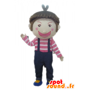 Boy Mascot overalls. Mascot child - MASFR028575 - Mascots child