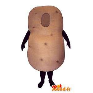 Mascotte de pomme de terre géante. Costume de patate