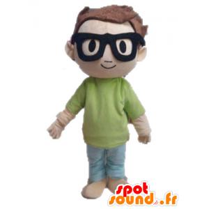 Boy mascotte. Mascot schooljongen klein kind - MASFR028582 - mascottes Child