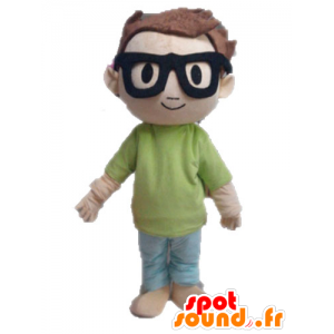 Mascote menino. Mascot estudante criança pequena - MASFR028582 - mascotes criança
