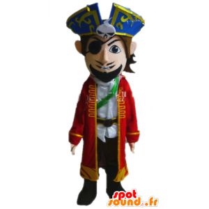 Mascotte de pirate en costume. Mascotte de capitaine - MASFR028584 - Mascottes de Pirates