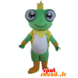 Mascot riesigen Frosch. König Maskottchen - MASFR028586 - Maskottchen-Frosch