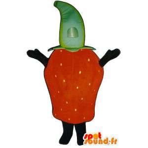 Costume de fraise géante. Costume de fraise