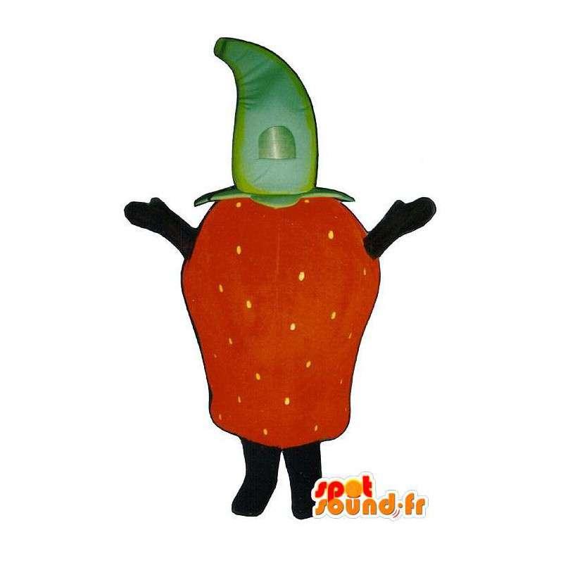 Costume giant strawberry. Strawberry Costume - MASFR007249 - Fruit mascot