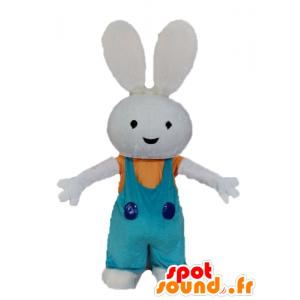 Kanin maskot fylt med kjeledress - MASFR028594 - Mascot kaniner