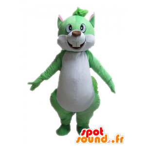 Green and white squirrel mascot, giant - MASFR028601 - Mascots squirrel