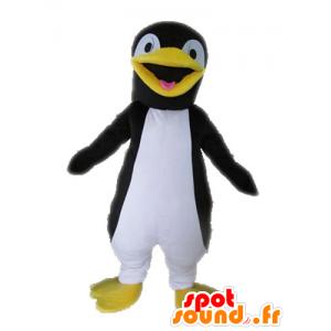 Pingüino mascota de gigante negro, amarillo y blanco - MASFR028602 - Mascotas de pingüino