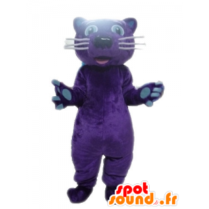 Tiger maskot, fiolett Panther - MASFR028603 - Tiger Maskoter