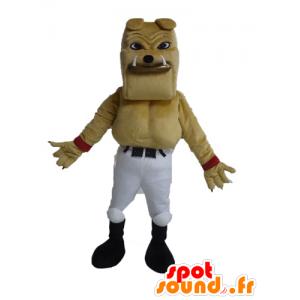 Mascot reus en gespierde bulldog beige - MASFR028607 - Dog Mascottes