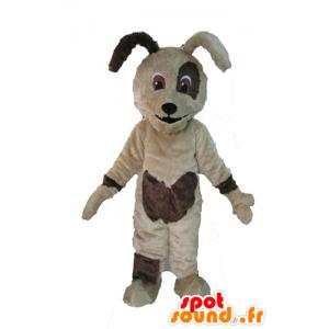 Beige en bruine hond mascotte, lief en schattig - MASFR028608 - Dog Mascottes