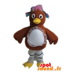 Bruine kip mascotte met spangled veren - MASFR028611 - Mascot Hens - Hanen - Kippen