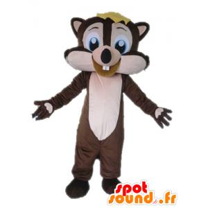 Maskotti ruskea ja pinkki orava, iloinen - MASFR028614 - maskotteja orava