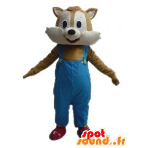 Maskotti ruskean ja beigen orava haalarit - MASFR028618 - maskotteja orava