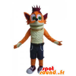 Mascot Crash Bandicoot, famous video game fox - MASFR028619 - Mascottes Renard