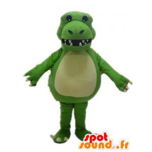 Giant and impressive green dinosaur mascot - MASFR028620 - Mascots dinosaur
