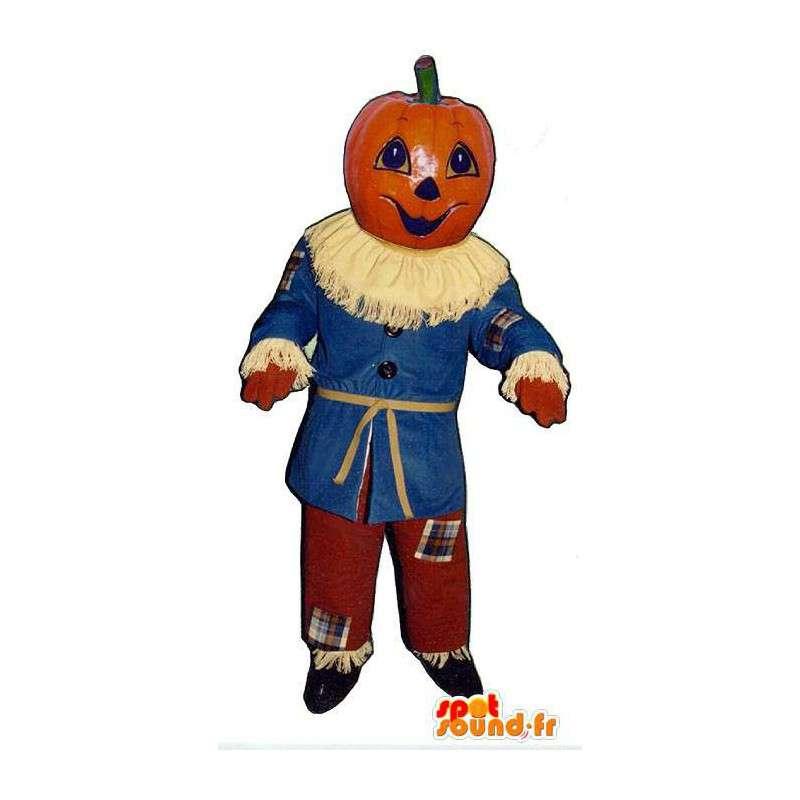 Mascot calabaza de Halloween Espantapjaros Disfraz en Mascota de