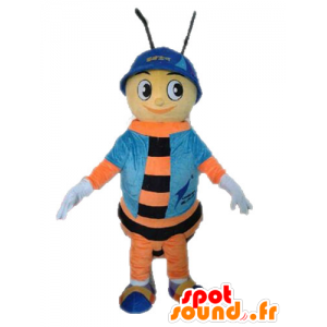 Bee mascot. orange and black insect mascot - MASFR028634 - Mascots insect