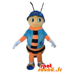 Bee Maskottchen. orange und schwarze Insekt Maskottchen - MASFR028634 - Maskottchen Insekt
