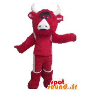 Mascot red and white bull. Chicago Bulls mascot - MASFR028636 - Bull mascot