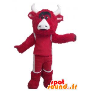 Rojo de la mascota y el toro blanco. Chicago Bulls mascota - MASFR028636 - Mascota de toro