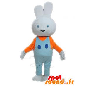 White Rabbit maskotti kanssa sininen haalari - MASFR028642 - maskotti kanit