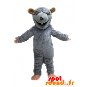 Mascot gray and brown rat, giant. rodent mascot - MASFR028643 - Mouse mascot