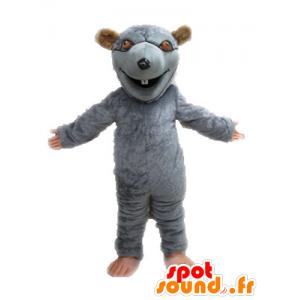 Mascot graue und braune Ratte, Riese. Nagetier Maskottchen - MASFR028643 - Maus-Maskottchen