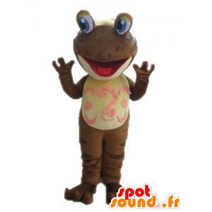 Brauner Frosch-Maskottchen. Mascot Salamander - MASFR028660 - Maskottchen-Frosch