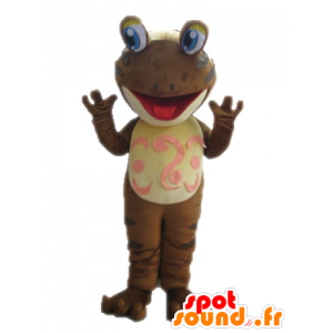 Ruskea sammakko maskotti. maskotti salamander - MASFR028660 - sammakko Mascot