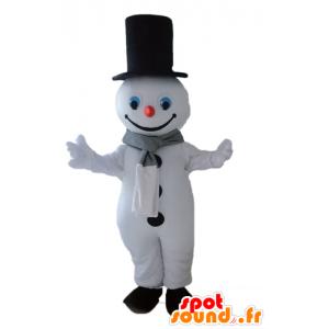 Mascotte de bonhomme de neige géant. Mascotte d'hiver - MASFR028661 - Mascottes Noël