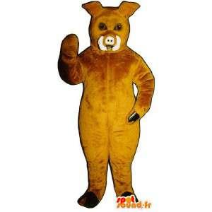 Mascota de jabalí, cerdo amarillo