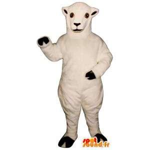 Valkoinen lammas maskotti. valkoinen lammas puku