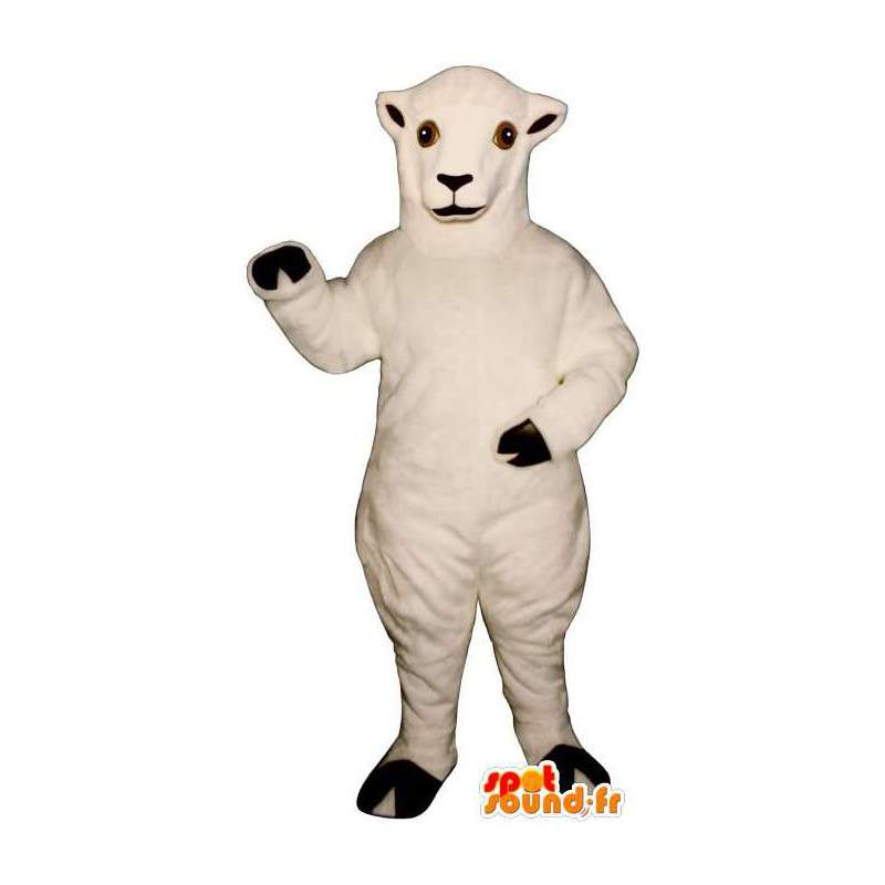Mascotte de mouton blanc. Costume de mouton blanc - MASFR007271 - Mascottes Mouton